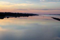 florida nad wschód słońca wodą Obraz Royalty Free