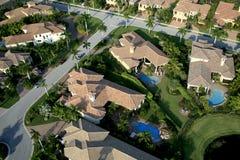 Florida Neighborhood Flyover. Aerial photograph of a Florida neighborhood Stock Image