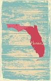 Florida nostalgic rustic vintage state vector sign. Rustic vintage style U.S. state poster in layered easy-editable vector format Stock Photo