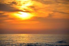 Florida Ocean Beach Sunset. Panama City, Florida Coast, Gulf of Mexico Beach, Ocean and sunset Royalty Free Stock Photo