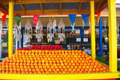 Florida Oranges Stand Stock Photography