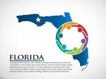 Florida Organization Community People. Vector Illustration Royalty Free Stock Photography