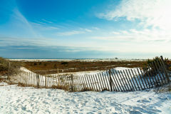 Florida panhandle beach. Beautiful white powder sand beach in the Florida panhandle in the late afternoon stock photography
