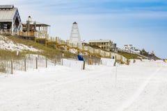 Florida Panhandle Beach Homes. Beautiful oceanfront beach homes along the North Florida panhandle coast stock photos