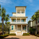 Florida Panhandle Home. Seacrest Beach, FL USA - March 29, 2016: Beautiful vacation home in the North Florida panhandle coastal community royalty free stock photos
