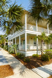 Florida Panhandle Home. Seacrest Beach, FL USA - March 29, 2016: Beautiful vacation home in the North Florida panhandle coastal community royalty free stock image