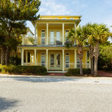 Florida Panhandle Home. Seacrest Beach, FL USA - March 29, 2016: Beautiful vacation home in the North Florida panhandle coastal community stock images
