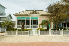 Florida Panhandle Home. Seaside, FL USA - March 29, 2016: Beautiful vacation home in the North Florida panhandle coastal community royalty free stock image