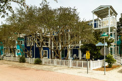 Florida Panhandle Home. Seaside, FL USA - March 29, 2016: Beautiful vacation home in the North Florida panhandle coastal community royalty free stock images