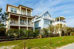 Florida Panhandle homes. Beautiful coastal homes of the Florida panhandle stock photos