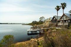 Florida Panhandle homes. Beautiful coastal homes of the Florida panhandle stock photo