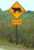 Florida Panthers Highway Sign Stock Photo