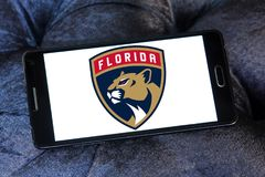Florida Panthers ice hockey team logo. Logo of Florida Panthers ice hockey team on samsung mobile. The Colorado Avalanche are a professional ice hockey team Stock Images