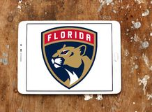 Florida Panthers ice hockey team logo. Logo of Florida Panthers ice hockey team on samsung tablet. The Colorado Avalanche are a professional ice hockey team royalty free stock image