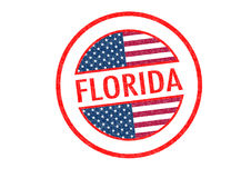 FLORIDA. Passport-style FLORIDA rubber stamp over a white background Royalty Free Stock Images