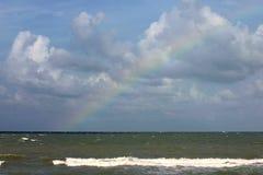 Florida Rainbow. Rainbowover ocean. Madeira Beach Florida Royalty Free Stock Photography