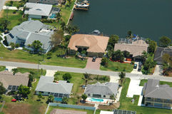 Florida residential. Aerial image of a Florida residential neighborhood royalty free stock photography