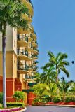Florida Resort with Balconies Stock Images