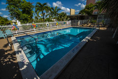 Florida  resort swimming pool Royalty Free Stock Photo