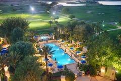 Florida resort swimming pool Stock Image