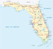 Florida road map Royalty Free Stock Images