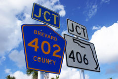 Florida road signs Royalty Free Stock Images