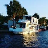 Florida& x27; s小船 库存图片