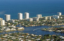 Florida Intracoastal Waterway, Fort Lauderdale Royalty Free Stock Photography