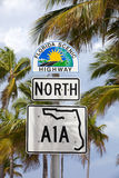 Florida's scenic highway sign Royalty Free Stock Photography