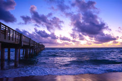 Florida´s sunrise. Sunrise at Lake Worth, West Palm Beach, FL Royalty Free Stock Photos