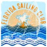 Florida sailing club graphic design Stock Photography