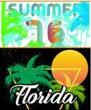 Florida Sailing poster design template Royalty Free Stock Photos