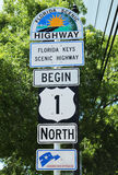 Florida Scenic Highway Sign in Key West, Florida, USA Stock Image