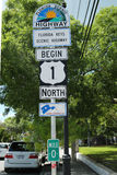 Florida Scenic Highway Sign in Key West, Florida, USA Royalty Free Stock Photo