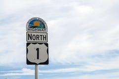 Florida scenisk huvudväg Arkivbilder