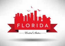 Florida Skyline with Typography Design vector illustration