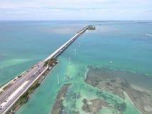 Florida sluit weg overzee stock foto