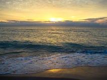 Florida solnedgång Fotografering för Bildbyråer