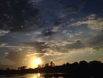 Florida solnedgång Royaltyfri Bild