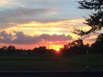 Florida solnedgång Royaltyfria Bilder
