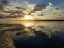 Florida solnedgång royaltyfri foto