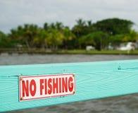 Florida som fiskar det förböd tecknet Royaltyfri Fotografi