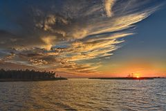 Florida-Sonnenuntergang Stockfotografie