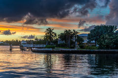 Florida-Sonnenuntergang Lizenzfreies Stockbild