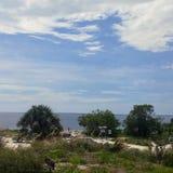FLorida southwest sunset view, beaches. Florida sunsets colors, southwest gulf coast royalty free stock photo