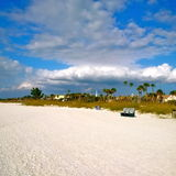 Florida St. Pete's beach with a bench Royalty Free Stock Photography