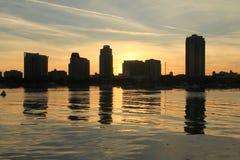 Florida St Petersburg hamn Arkivfoto