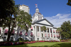 Florida State Capitol. The old Florida State Capitol building as seen from Monroe St and Apalachee Parkway with the New Capitol in the background Stock Images