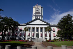 Florida State Capitol. The old Florida State Capitol building as seen from Monroe St and Apalachee Parkway with the New Capitol in the background Royalty Free Stock Photography