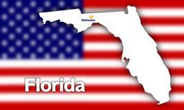 Florida state contour Stock Image
